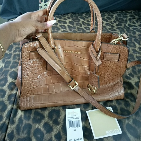 27d517417a60 MICHAEL Michael Kors Bags | Medium Camel Colored Crocodile Michael ...